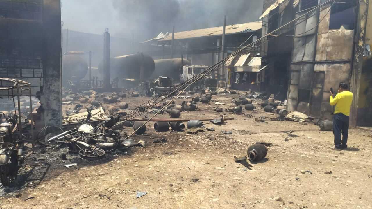 Explosión en Planta Envasadora de GLP Llama Gas Pucallpa